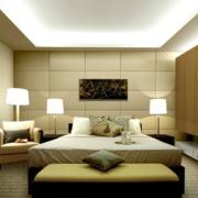 暖色调单身公寓卧室