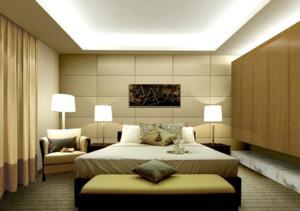 三居室单身公寓现代简约风格卧室装修效果图