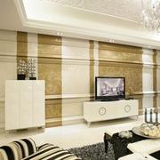 有层次感的客厅电视背景墙