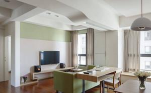 90平米2室1厅1卫的混搭风格装修效果图