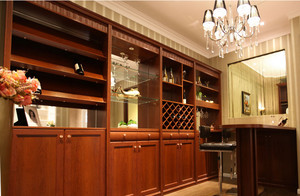 传统型酒柜设计图片