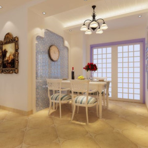 地中海风格餐厅背景墙装修效果图