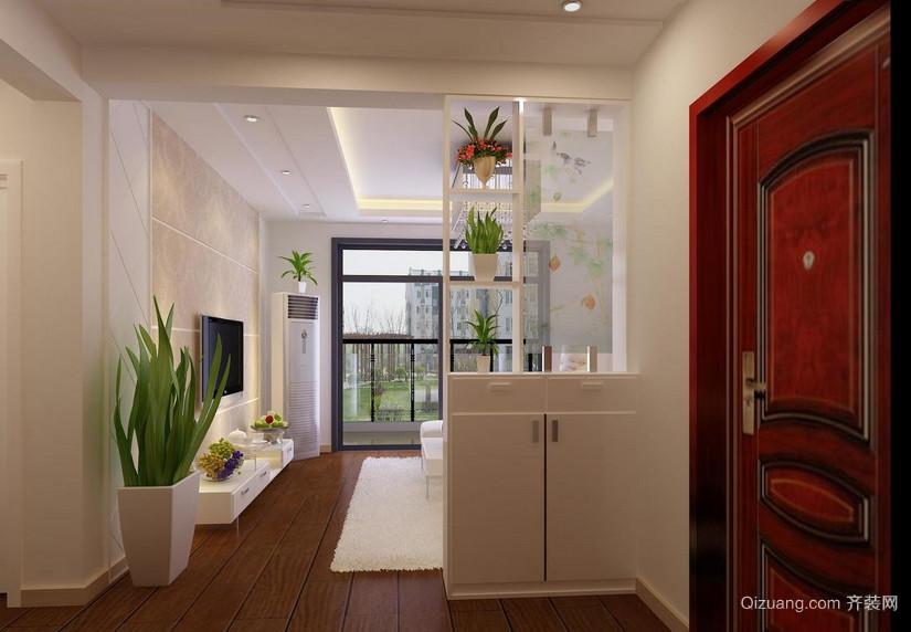90平米高贵典雅的欧式大户型客厅玄关装修效果图