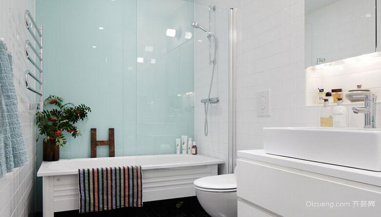 80平米公寓小卫生间设计装修效果图鉴赏