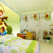 儿童房墙面清爽壁纸