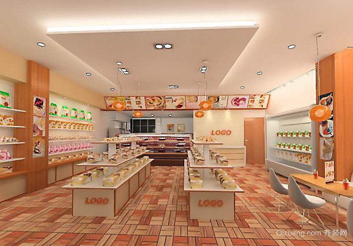 2015小户型现代都市蛋糕店设计装修效果图