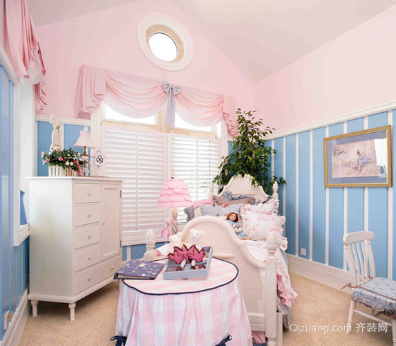 120平米大户型美式儿童房设计装修效果图欣赏