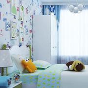 儿童房清新壁纸展示