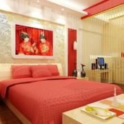 淡色调婚房卧室设计