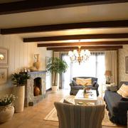 客厅是实木吊顶欣赏