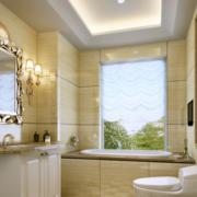 金色明亮的卫生间