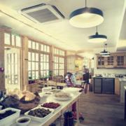 咖啡店地板砖效果图