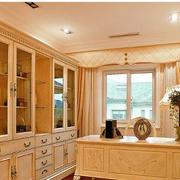 淡色调书柜设计图片