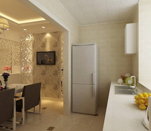 2015单身公寓欧式客厅酒柜背景墙装修效果图