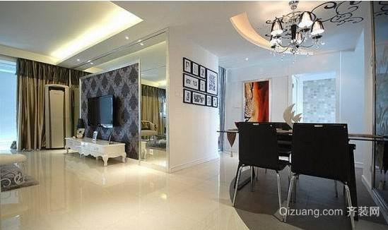 现代简约风格单身公寓装修效果图
