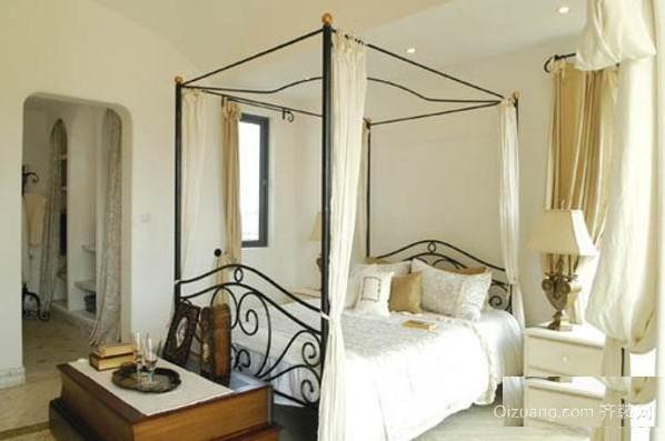 两居室地中海清新风格卧室装修效果图