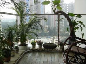 精美复式楼阳台花园装修设计效果图