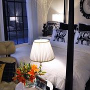 欧式别墅简约风格卧室床饰装饰