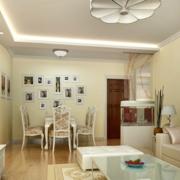 欧式清新风格客厅玄关装饰