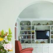 欧式简约风格电视柜置物架装饰