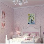 卧室粉色系韩式壁纸装饰