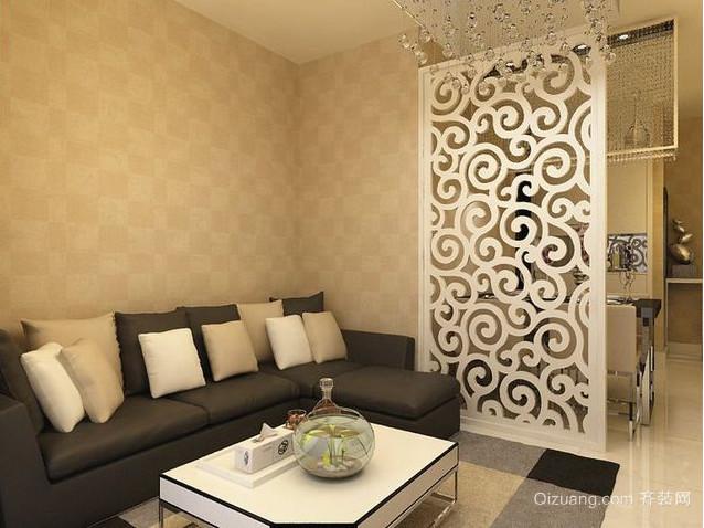 现代日式客厅隔断装修效果图
