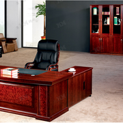 中式奢华红木深色系书柜装饰