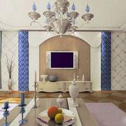 客厅拱形电视背景墙装饰