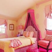 儿童房简约风格粉色系装饰