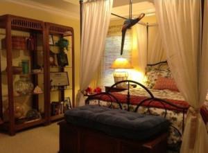 2015美式复古卧室装修效果图
