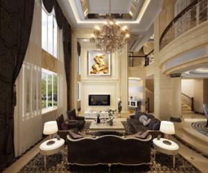 欧式奢华风格客厅沙发装饰