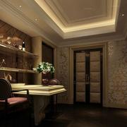 欧式风格奢华酒柜装饰