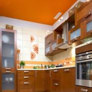 美式简约风格原木厨房橱柜装饰