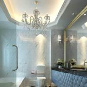 欧式奢华风格家庭卫生间吊顶装饰