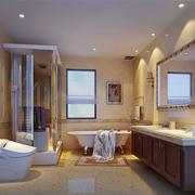 欧式风格简约卫生间独立浴室装饰