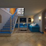 地中海风格室内楼梯装饰