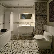 卫生间简约风格密集式瓷砖装饰