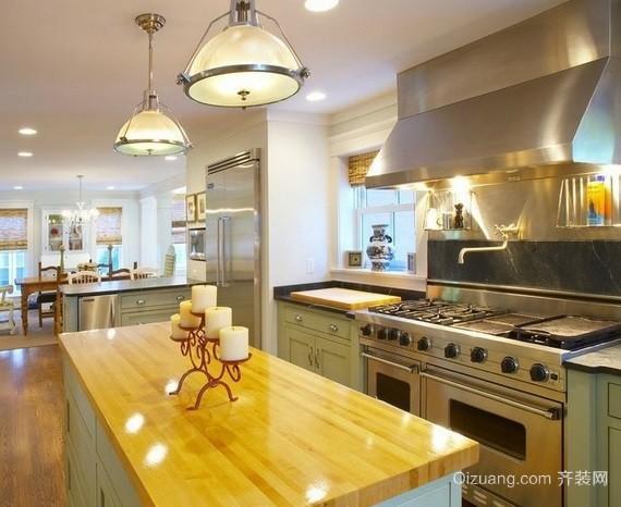 都市开放式厨房集成吊顶装修效果图