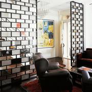 100平米房屋简约风格客厅隔断装饰