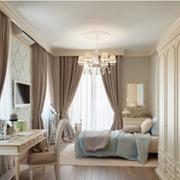 欧式大气公寓卧室飘窗装饰