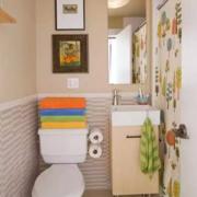 北欧风格清新厕所背景墙装饰