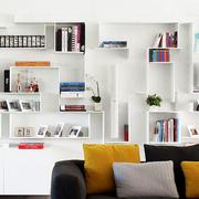 北欧风格清新书房书柜装饰