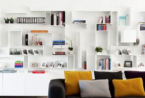 小户型现代书房书柜装修效果图