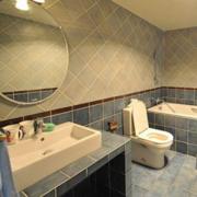 三室两厅简约风格简欧风格卫生间装饰
