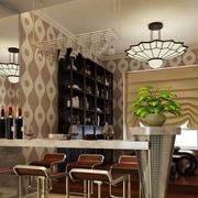 美式简约风格大理石吧台装饰