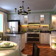 现代厨房背景墙装修图