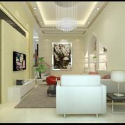 100平米房屋客厅电视背景墙装饰