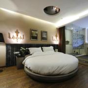 后现代风格卧室床头背景墙