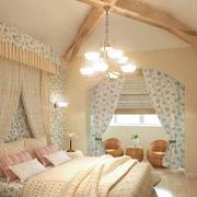 美式简约风格卧室墙纸装饰