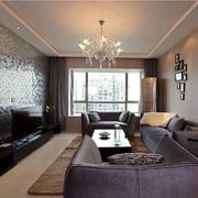 现代简约风格客厅简易吊顶装饰